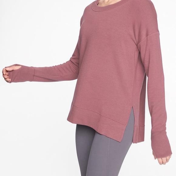 Athleta Coaster Luxe Sweatshirt  Soft Lilac Yoga Top Women Size XS  New